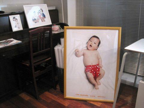 企画中の等身大写真も飾られています。「かわい〜」